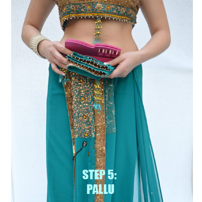 how to wear a sari instructions